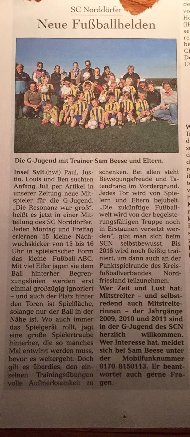 Sylter Spiegel 28.10.15